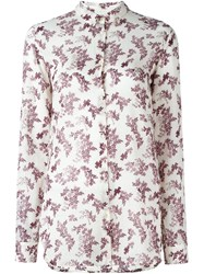 Forte Forte Floral Print Shirt Pink And Purple
