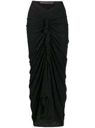Rick Owens Lilies Ruched Draped Skirt 60