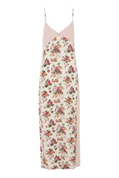Topshop Mixed Print Slip Dress By Nobody's Child Cream