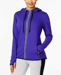 Ideology Zip Hoodie Only At Macy's Blazing Purple