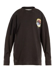 Off White Hand Sphere Print Cotton Jersey Sweatshirt Black