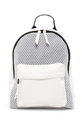 Poverty Flats Sport Faux Leather Backpack White
