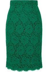 Dolce And Gabbana Guipure Lace Skirt Green
