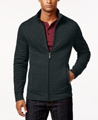 Club Room Men's Quilted Zipper Jacket Only At Macy's Dark Lead