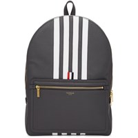 Thom Browne Grey Structured 4 Bar Stripe Backpack