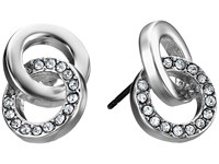 Kate Spade Infinity And Beyond Studs Earrings Clear Silver