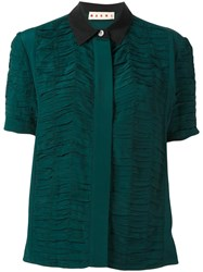 Marni Ruched Short Sleeve Shirt Green