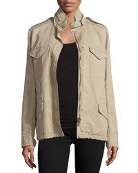 Michael Kors Fur Lined Safari Jacket Sand