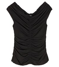 The Row Ellas Gathered Top Black