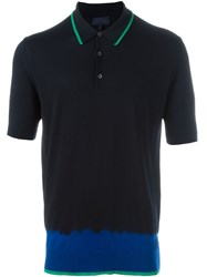 Lanvin Tie Dye Effect Polo Shirt Black