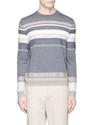 Theory 'Sandes' Stripe Wool Sweater Multi Colour
