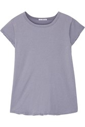 James Perse Brushed Cotton Jersey T Shirt Lavender