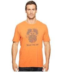 Life Is Good Pirate Day Smooth Tee Deep Orange Men's T Shirt