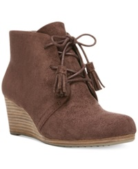 Dr. Scholl's Dakota Wedge Booties Women's Shoes Dark Brown