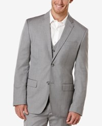 Perry Ellis Big And Tall Textured Blazer Medium Gray