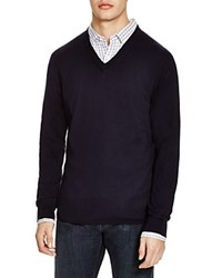 The Men's Store At Bloomingdale's V Neck Cotton Cashmere Sweater True Navy