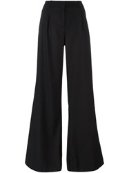 Michael Michael Kors High Waisted Flared Trousers Black
