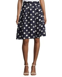 Pink Tartan Pleated Chiffon Polka Dot Skirt Blue White