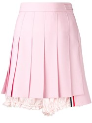 Thom Browne Lace Trim Bloomer Miniskirt Pink