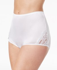Vanity Fair Perfectly Yours Lace Nouveau Nylon Brief 13001 Star White