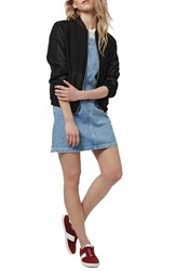 Women's Topshop Braid Strap Denim Minidress
