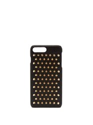 Christian Louboutin Loubiphone Leather Iphone 7 And 8 Plus Case Black Gold