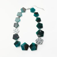 John Lewis Hexagon Necklace Turquoise Silver
