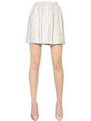 Blugirl Macrame Lace And Leather Skirt