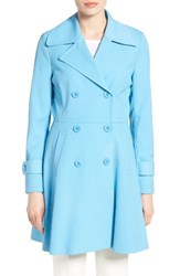 Trina Turk Women's Rosemarie Skirted Trench Coat Ocean