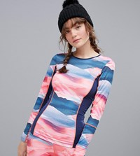 Protest Emphasis Thermo Long Sleeve Top In Multi