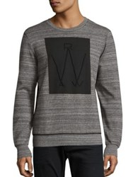 G Star Luxas Biker Art Heathered Sweatshirt Black Heather