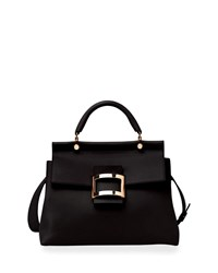 Roger Vivier Viv Cabas Medium Top Handle Satchel Bag Black