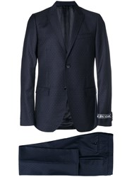 Gucci Micro Dotted Suit Jacket Cupro Wool Blue