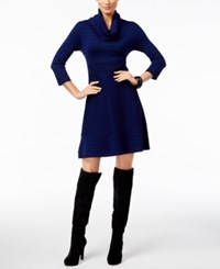 Inc International Concepts Cowl Neck Sweater Dress Only At Macy's Goddess Blue