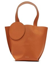 Roksanda Ilincic Eider Mini Pebbled Leather Tote Tan