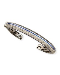 Pave White Zircon And Ice Blue Sapphire Cuff Mcl By Matthew Campbell Laurenza