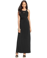 Style And Co. Ruched Keyhole Halter Gown Only At Macy's