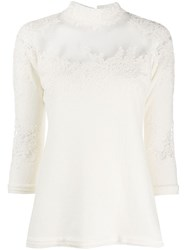 Ermanno Scervino Lace Detail Knit Top 60