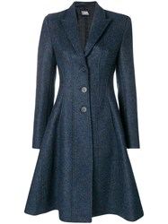 Karl Lagerfeld Fit And Flare Coat Blue