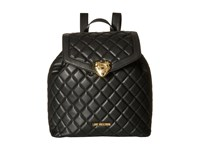 Love Moschino Quilted Knapsack Black