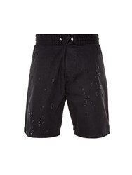 Givenchy Destroyed Denim Shorts