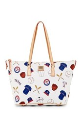 Dooney And Bourke Rangers Zip Top Shopper White