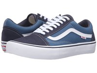 Vans Old Skool Pro Navy Stv Navy White Men's Skate Shoes Blue
