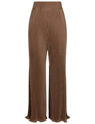 Beaufille Tan And Black Thebe Plisse Trousers Brown