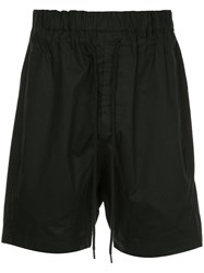 Bassike Drawstring Fitted Shorts Black