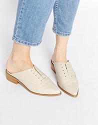 Asos Mile End Pointed Mules Grey