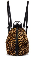 Rebecca Minkoff Convertible Mini Julian Backpack In Brown. Natural