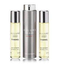 Chanel Allure Homme Sport Eau Extreme Refillable Travel Spray 20Ml X 3 Male