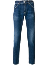 Dondup Distressed Skinny Jeans Men Cotton Polyester 32 34