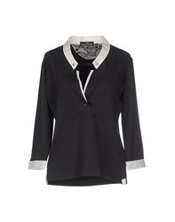 Etiqueta Negra Topwear Polo Shirts Women Steel Grey
